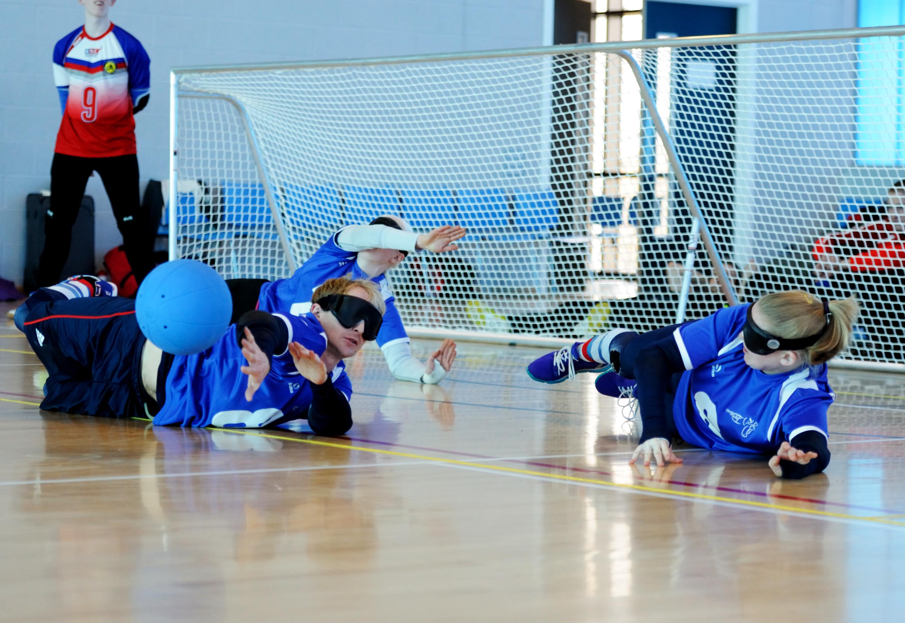 Goalfix lightweight goalball goal