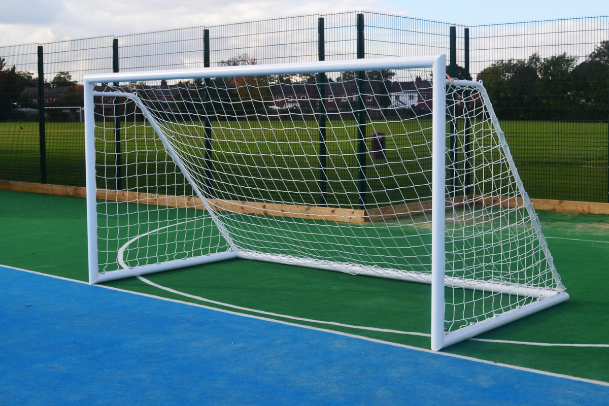 blind football goal